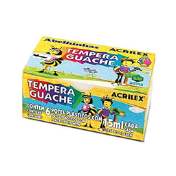 Tempera Guache Acrilex 6 U