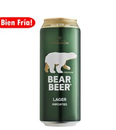Bear Beer Lager 5% Lata 500 ml