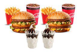 2 McCombo Big Mac Mediano + 2 Sundaes Choco