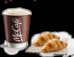 Latte + 2 Croissants