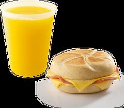Jugo de Naranja + Sándwich de Lomito