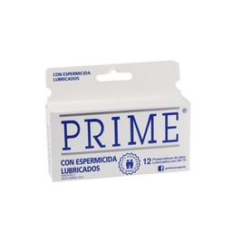 Prime Preservativo Con Espermicida Blanco 12 U