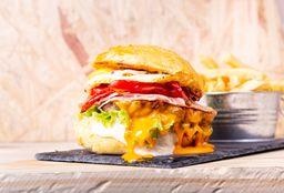 Burger X Salad Egg