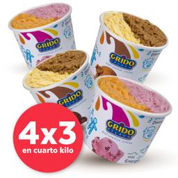 4x3 en 1/4 Kg de Helado