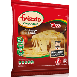 Pizza Mozzarella (8 Porciones) 510gr.