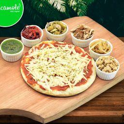 Pizza Muzza Vegana y 2 Gustos