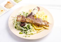 2 Brochettes + Ensalada