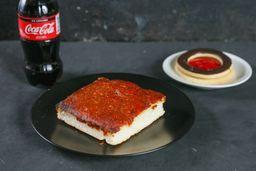 Pizza Rectangular + Refresco de 250 ml + Postre del Día