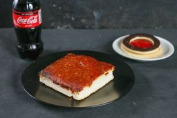 Pizza Rectangular + Refresco de 250 ml + Postre del Día