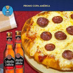 Pizzeta con Pepperoni y 2 Cervezas