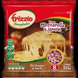 Pizza Mozzarella y Jamon (8 Porc.)535gr.