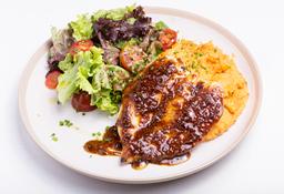 Pollo con Polenta y Dijon