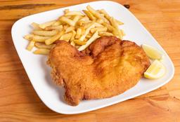 Milanesa pollo & guarnición