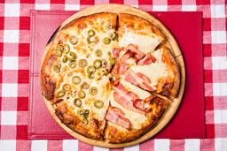 Pizzeta Muzzarella Mitad y Mitad + 1 Gusto - 28 Cm