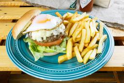Hamburguesa Webonada + Papas Fritas