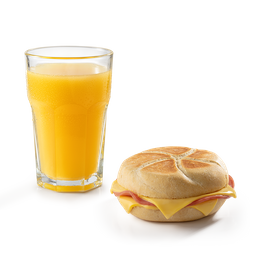Jugo de Naranja + Sandwich de Lomito