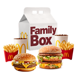2 McCombos Medianos Family Box Clasica