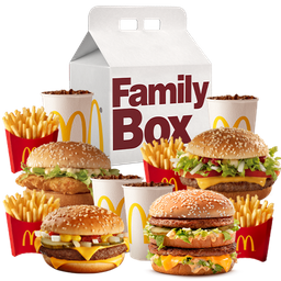 4 McCombos Medianos Family Box Clasica