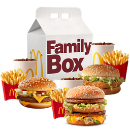 3 McCombos Medianos Family Box Clasica