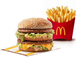 Hamburguesa Big Mac + Papas medianas 20%