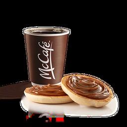 Cafe + Pan con dulce de leche