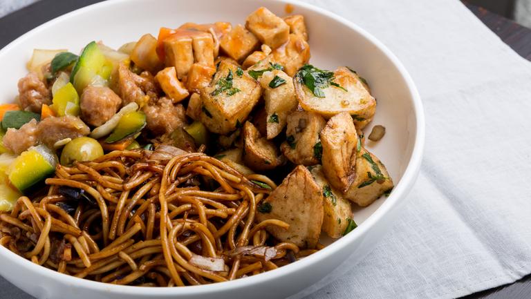 Logo El Durazno Comida China y Vegetariana